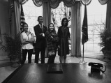 Isabella & I w/ the Obamas